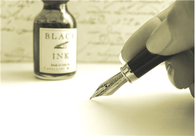 Picture Of Calligraphy And Black Ink