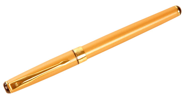 Picture Of Classic Golden Fountain Pen