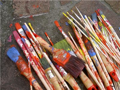 Picture Of Colored Brushes