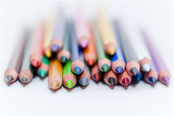 Picture Of Colored Pencils For Art