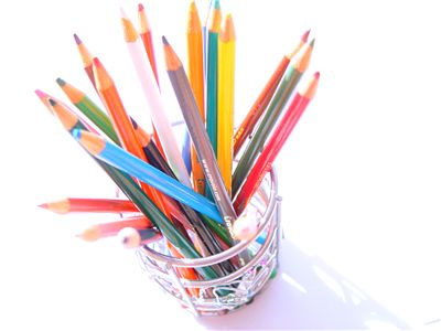Picture Of Colored Wooden Pencils