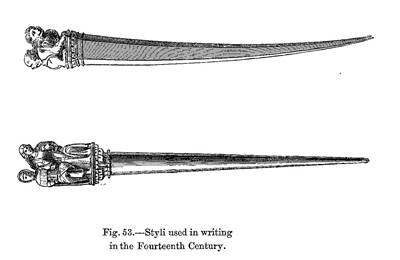 Picture Of Fourteenth Century Writing Implements