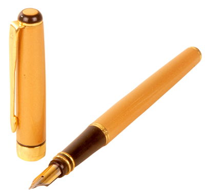 Picture Of Golden Fountain Pen