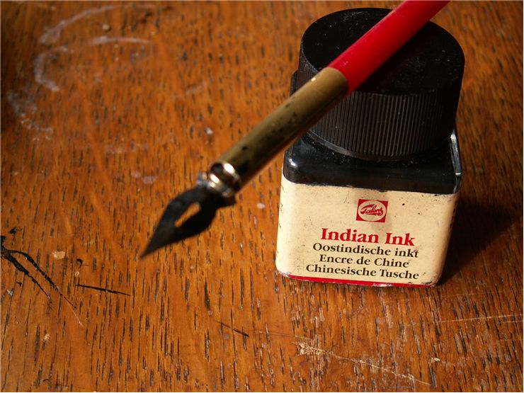 Picture Of Ink And Pen