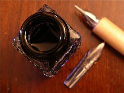 Picture Of Nibs And Ink Pot