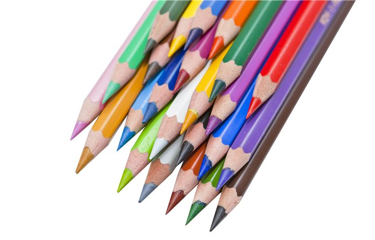 Picture Of Pencils On White Background