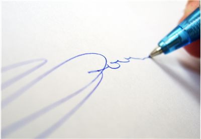 Picture Of Signature With Ballpoint Pen