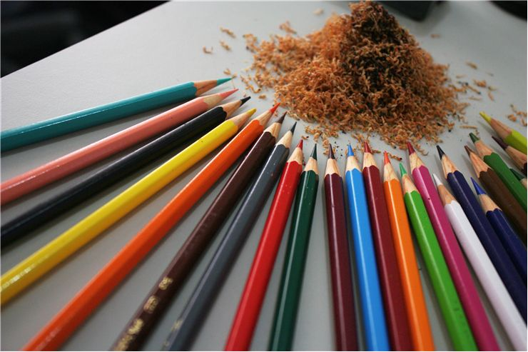 Picture Of Wooden Color Pencils