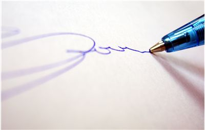 Picture Of Writing With Ballpoint Pen